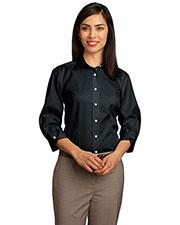 Red House RH61 Women 3/4Sleeve Dobby Non-Iron ButtonDown Shirt at GotApparel