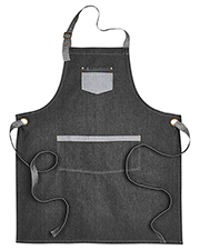Artisan Collection by Reprime RP127  Domain Contrast Denim Bib Apron at GotApparel