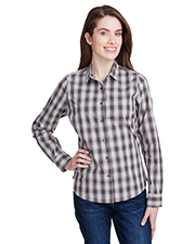 Artisan Collection by Reprime RP350 Women Ladies' Mulligan Check Long-Sleeve Cotton Shirt at GotApparel