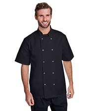 Artisan Collection by Reprime RP664  Studded Front Short-Sleeve Chef's Jacket at GotApparel