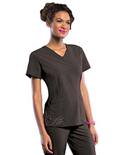 Smitten S101028 Women V-Neck Tattoo Tunic at GotApparel