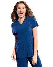 Smitten S101030 Women V Neck Tunick W/ Top Load Pkt at GotApparel
