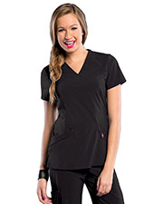 Smitten S101031 Women V Neck Crossover Tunic at GotApparel