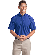 Port Authority S507 Men Short Sleeve Easy Care, Soil Resistant Shirt at GotApparel