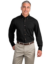Port Authority TLS600T Men Tall Long Sleeve Twill Shirt at GotApparel