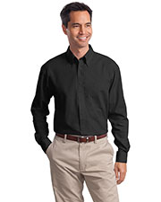 Port Authority S632 Men Long Sleeve Value Poplin Shirt at GotApparel