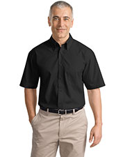 Port Authority S633 Men Short Sleeve Value Poplin Shirt at GotApparel