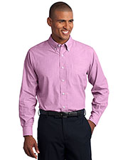 Port Authority TLS640 Men Tall Crosshatch Easy Care Shirt at GotApparel