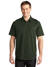 Port Authority S648 Men Stain Resistant Short Sleeve Twill Shirt at GotApparel