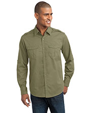 Port Authority S649 Men Stain-Resistant Roll Sleeve Twill Shirt at GotApparel