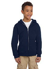 Champion CW25 Boys 9 Oz., 50/50 Full-Zip Hoodie at GotApparel
