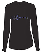 "Sapphire SA603A Women ""Chelsea"" Long Sleeve Knit Tee at GotApparel"