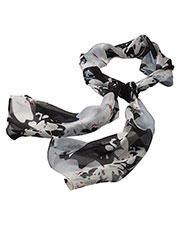 Edwards SC60 Women Silk Chiffon Splatter Floral Scarf at GotApparel
