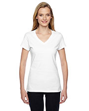 Fruit of the Loom SFJVR Women 4.7 oz. 100% Sofspun Cotton Jersey V-Neck TShirt at GotApparel