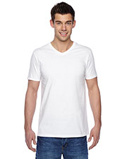 Fruit of the Loom SFVR Unisex 4.7 oz., 100% Sofspun Cotton Jersey V-Neck T-Shirt at GotApparel