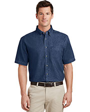 Port & Company SP11 Men Short-Sleeve Value Denim Shirt at GotApparel