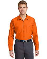 Red Kap® SP14LONG Men's Long Size, Long-Sleeve Industrial Work Shirt at GotApparel