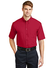 Cornerstone SP18 Men Short-Sleeve Superpro  Twill Shirt at GotApparel