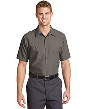 Red Kap® SP24LONG Men's Long Size Short Sleeve Industrial Work Shirt at GotApparel