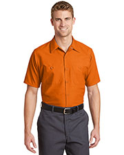 Red Kap  SP24LONG Men Long Size Short-Sleeve Industrial Work Shirt at GotApparel