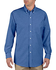 Dickies SS36T Unisex Tall Button-Down Long-Sleeve Oxford Shirt at GotApparel