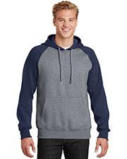 Sport-Tek® ST267 Men Raglan Colorblock Pullover Hooded Sweatshirt at GotApparel