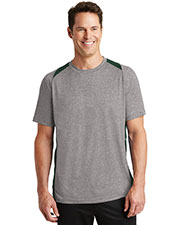 Sport-Tek® ST361 Men Heather Colorblock Contender   Tee at GotApparel