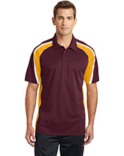 Sport-Tek ST654 Men Tricolor Micropique Sport-Wick Polo at GotApparel