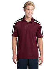Sport-Tek ST658 Men Tricolor Shoulder Micropique Sport-Wick Polo at GotApparel