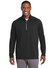 Sport-Tek ST860 Men Textured 1/4-Zip Pullover at GotApparel