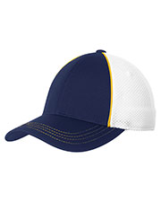 Sport-Tek STC29 Unisex Piped Mesh Back Cap at GotApparel