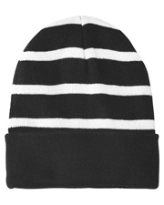 Sport-Tek STC31  ®  Striped Beanie With Solid Band. at GotApparel