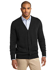 Port Authority SW302 Men Value V-Neck Cardigan with Pockets at GotApparel