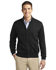 Port Authority SW303 Men Value Full Zip Mock Neck Sweater at GotApparel