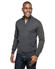 Tri-Mountain SW941 Men Quentin Fine Gauge 1/4 Zip Sweater at GotApparel