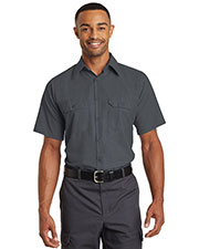Red Kap® SY60 Men's Short-Sleeve Solid Ripstop Shirt at GotApparel