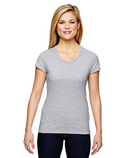 Champion T050 Women for Team 365 Vapor Cotton short sleeve VNeck at GotApparel