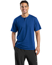 Sport-Tek T210 Men Short Sleeve Henley at GotApparel