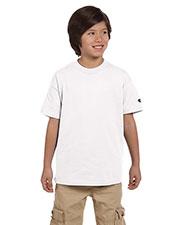 Custom Embroidered Champion T435 Boys 6.1 Oz. Short-Sleeve T-Shirt at GotApparel
