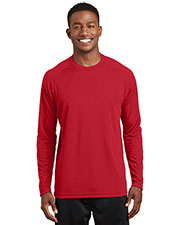 Sport-Tek T473LS Men Dry Zone Long Sleeve Raglan T-Shirt at GotApparel