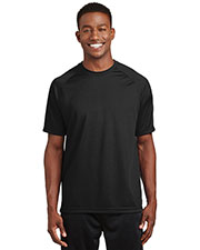 Sport-Tek® T473 Men Dry Zone Short-Sleeve Raglan T-Shirt at GotApparel