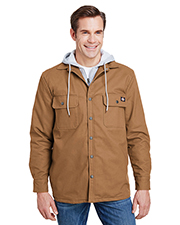 Dickies Workwear TJ203 Men 8 oz Hooded Duck Quilted Shirt Jacket at GotApparel