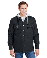 Dickies TJ203 Men 8 oz Hooded Duck Quilted Shirt Jacket at GotApparel