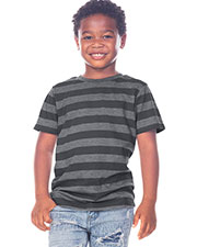 Toddlers Striped Jersey Crew Neck Short Sleeve Tee at GotApparel