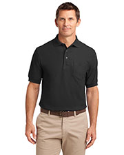 Port Authority® TLK500P Men's Tall Silk Touch™ Polo with Pocket at GotApparel