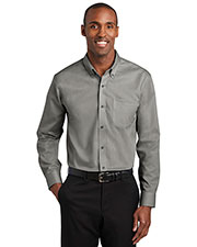 Red House TLRH240 Men Tall 3.8 oz Pinpoint Oxford Non-Iron Shirt at GotApparel
