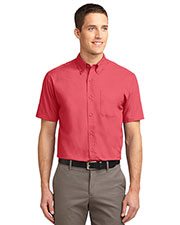 Port Authority TLS508 Men Tall Short Sleeve Easy Care Shirt at GotApparel