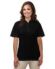 Tri-Mountain 302 Women's Assistant Easy Care Knit Short-Sleeve Cook Shirt at GotApparel