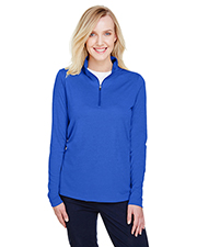 Team 365 TT31HW Ladies 3.8 oz Zone Sonic Heather Performance Quarter-Zip at GotApparel