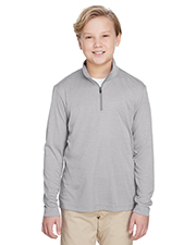 Team 365 TT31HY Boys Youth Zone Sonic Heather Performance Quarter-Zip at GotApparel